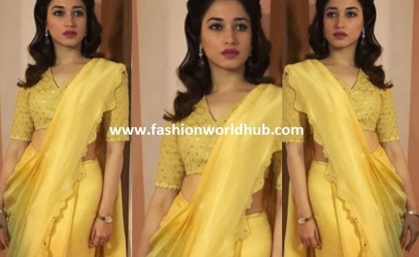 Tamanna Bhatia in AM:PM by Ankur Modi & Priyanka Modi Saree