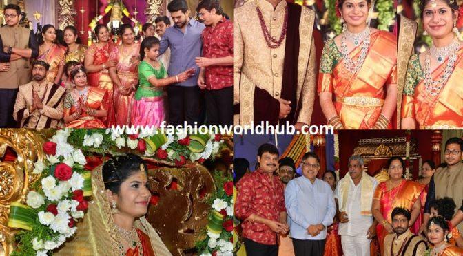 Director Boyapati Srinu Niece Tejaswini and Midhun Sarath Wedding photos!