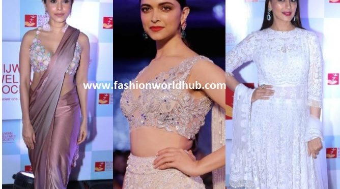 "Celebrities Walked the Ramp for Manish Malhotra at ""The Walk Of Mijwan Show 2018"""