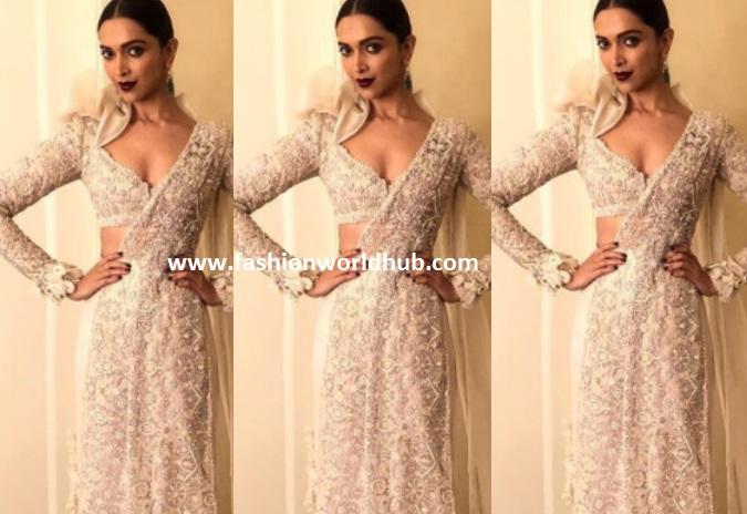 Deepika Padukone in Anamika Khanna | Fashionworldhub