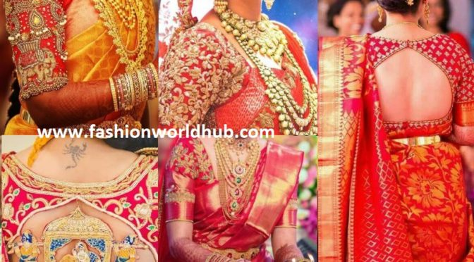 Red Embroidered Bridal Blouse Designs
