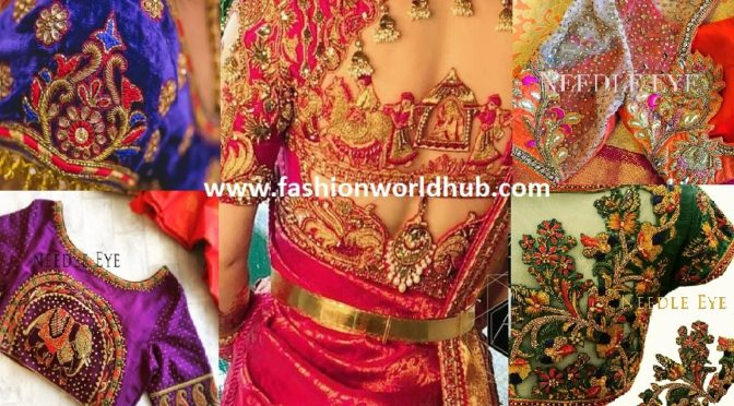 "Mind blowing Bridal Embroidery Blouse Designs By ""Needle Eye"""