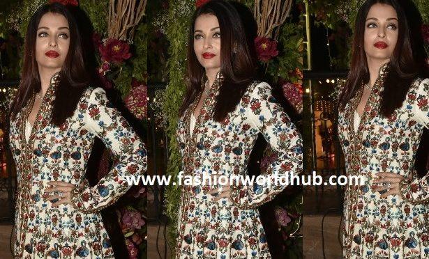 Aishwarya Rai Bachchan in White Jacket style Anarkali