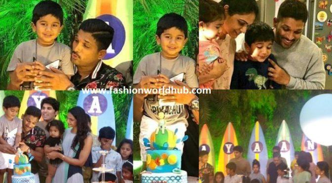 Allu Arjun Son Allu Ayaan's 4th Birthday Party