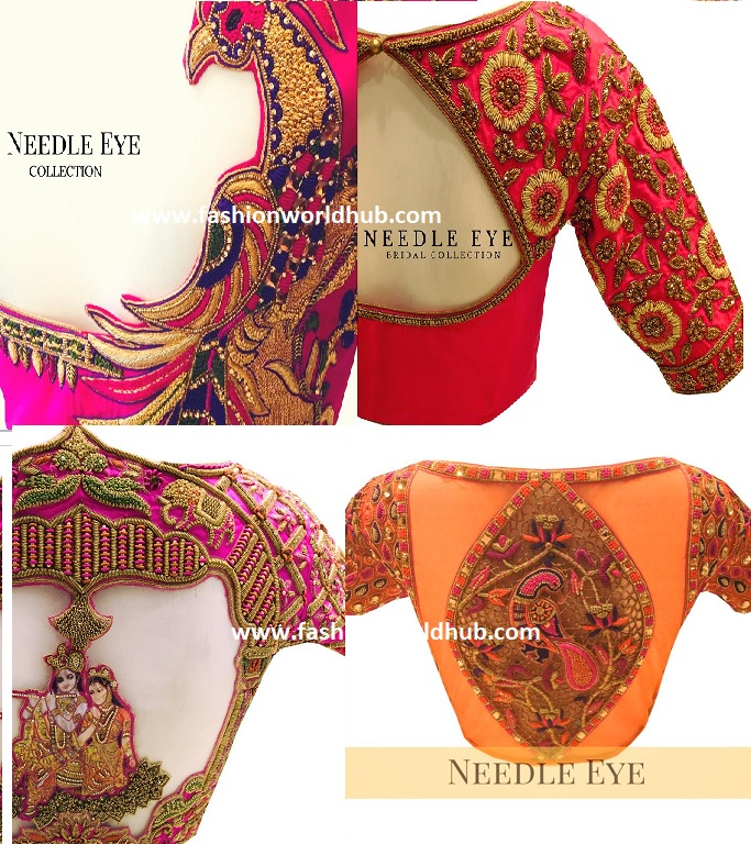 Mind Blowing Bridal Embroidery Blouse Designs By Needle Eye