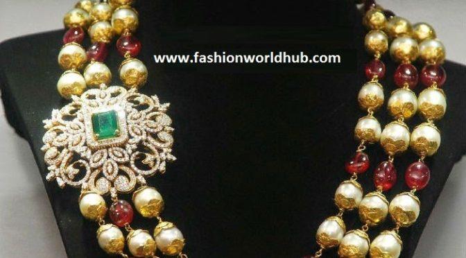 Beads Mala with Diamond Mugappu