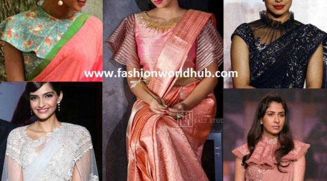 5 Modern Saree blouse designs that Rule in 2018!