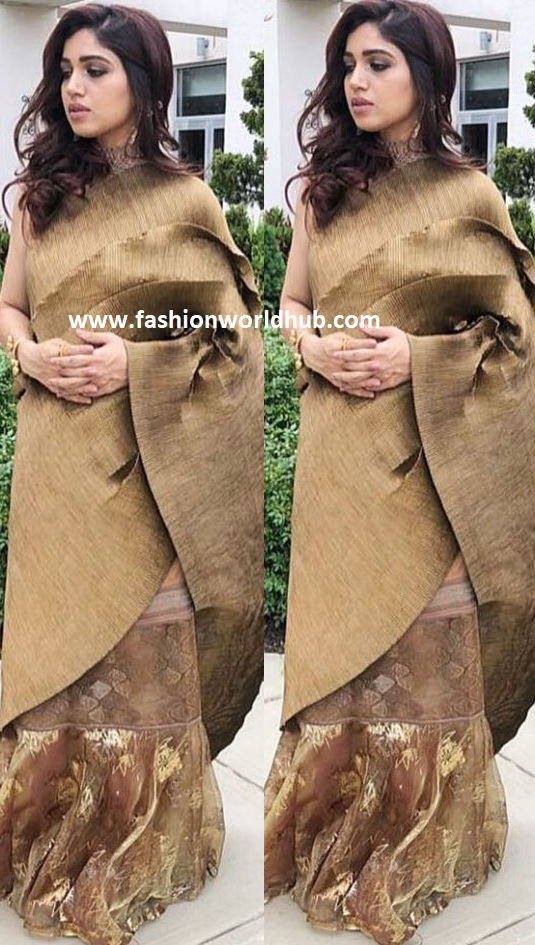 Bhumi Pednekar In Kiran Uttam Ghosh Fashionworldhub