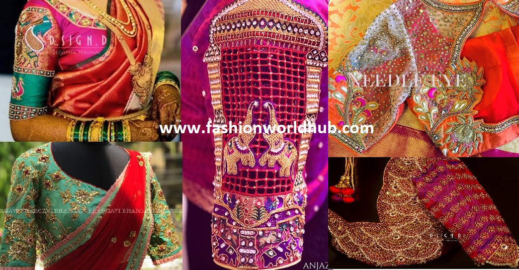 Latest Maggam Work Blouse Designs From Top Fashion Boutique Stores