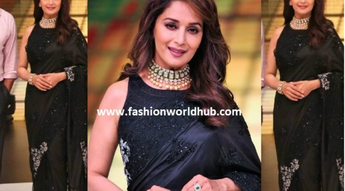 Madhuri Dixit in Jade by Monica and Karishma!