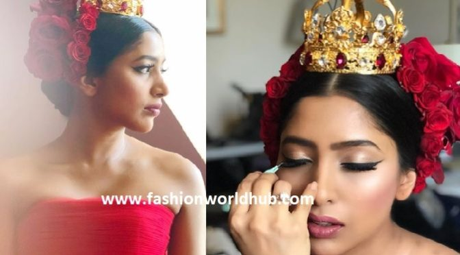 Shriya Bhupal was outstanding in red at her pre-wedding masquerade ball!