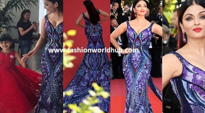 Aishwarya Rai Bachchan in Michael Cinco at Cannes Film Festival 2018