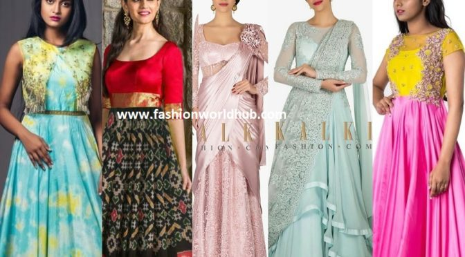 Party wear Indian Evening Gowns that are trending now!