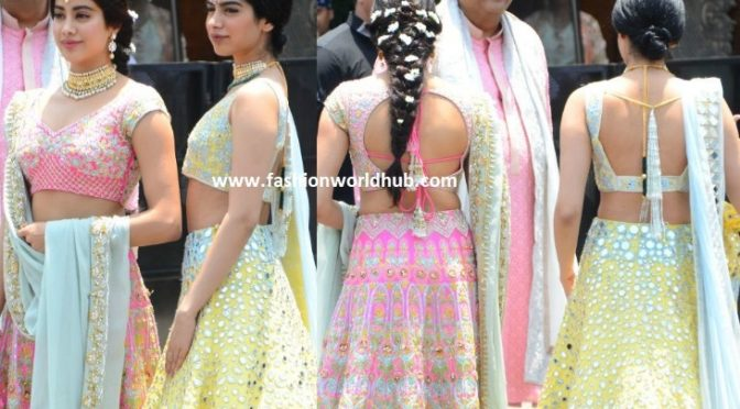 Janhvi and Khushi in Manish Malhotra at Sonam Kapoor's Wedding