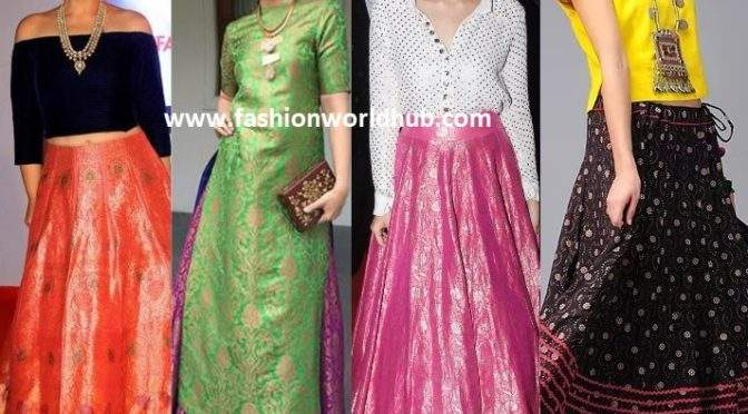 6 Smart and Stylish Ways To Give Your Traditional Indian Skirts to Modern!