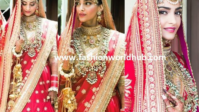 Sonam Kapoor Looks gorgeous In A Red Lehenga At Her Wedding!