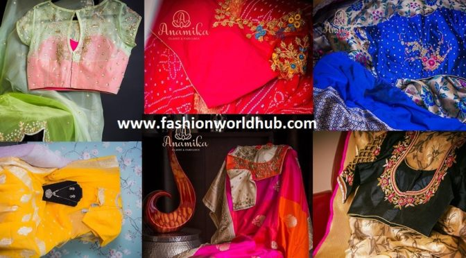 Classic Designer sarees & designer blouses by Anamika Fashions!