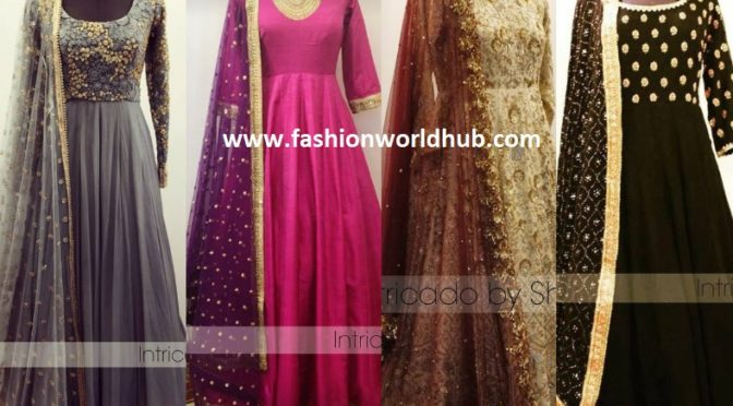 Gorgeous Anarkali designs by Intricado