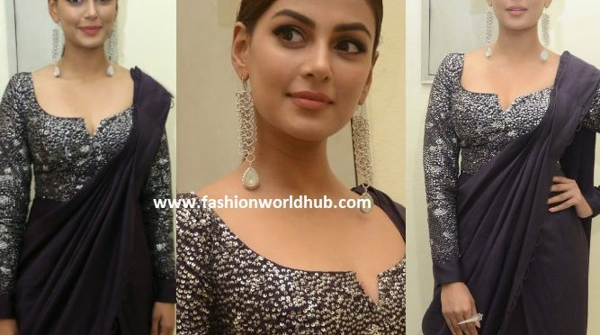 Anisha Ambrose in a saree gown