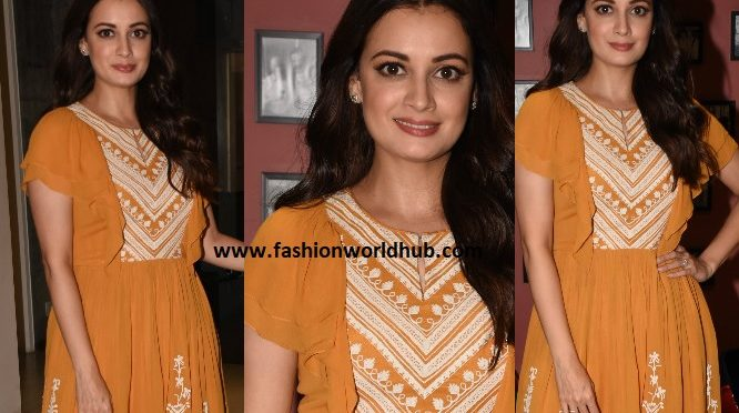 Dia Mirza in Varq by Varun & Nidhika for Sanju promotions
