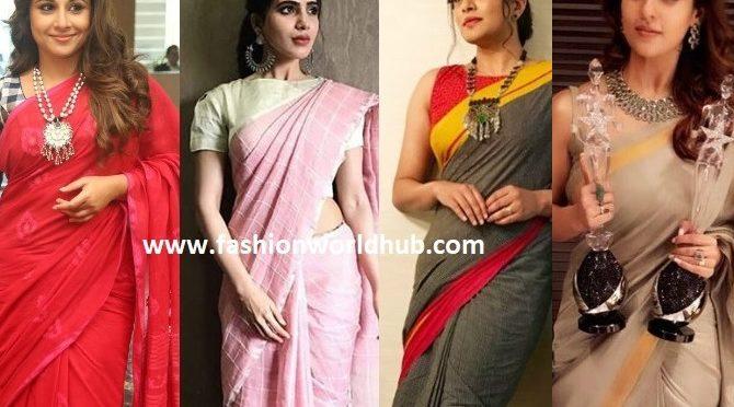 Reasons to prefer Handloom Sarees like our Celebrities!