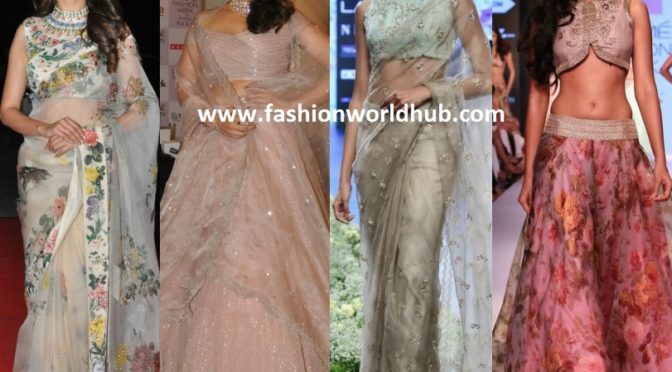 Trending high!! Sheer Organza Fabric Outfits!