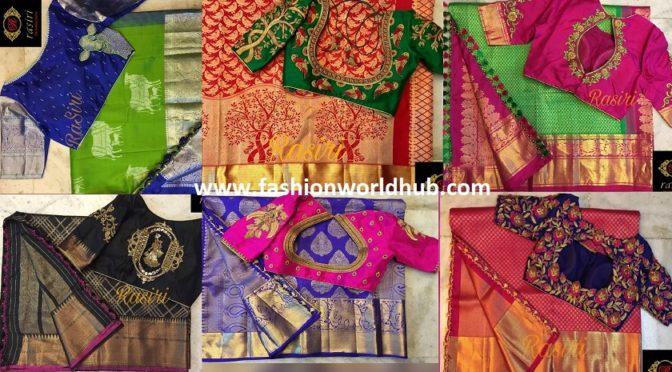 Beautiful Maggam work blouse designs by Rasiri.