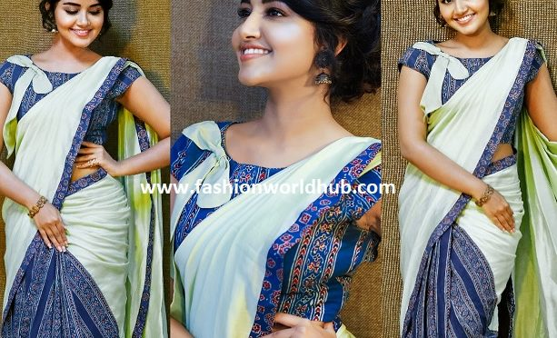 Anupama Parameshwaran in TheHLabel Saree