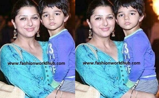 Bhumika with her cute son