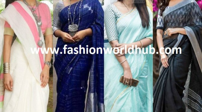 Style and Accessorize the Linen Sarees: the new look