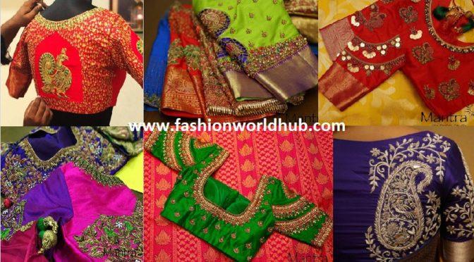 Bridal Silk Saree Blouse Designs – Mantra -The Design Studio
