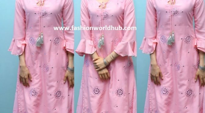 Pranitha Subhash in a pink sharara suit