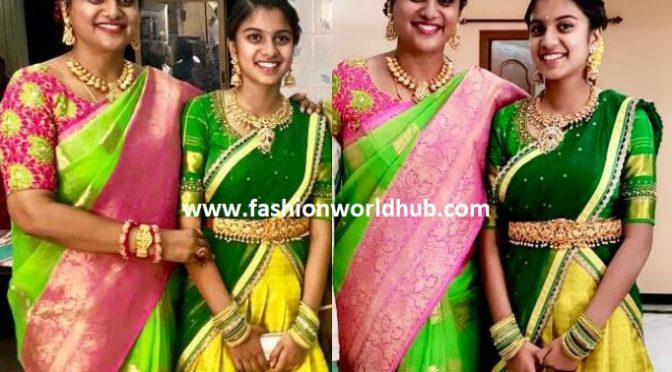 Roja and her daughter in traditional wear!
