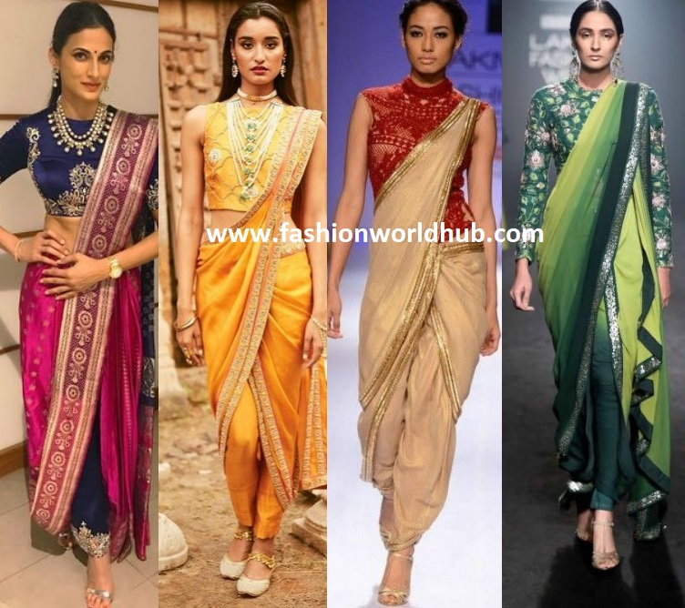 2ab302847c382 These pant style saree have made waves on fashion this year. Every wedding  season we have to choose an ideal way to make a fashionable arrival at the  ...