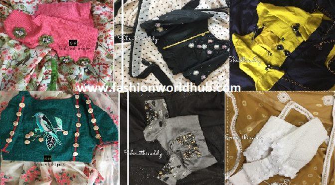 Stylish designer sarees & designer blouses by Shruthireddy!