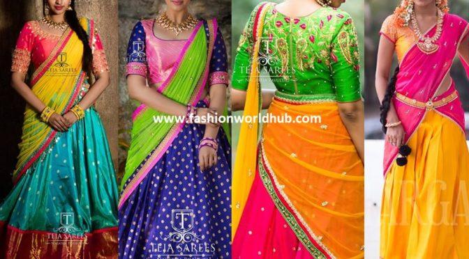Half saree – A traditional yet simple way to flaunt a short saree