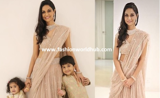 Sneha Reddy and her kids in Traditional Outfit!