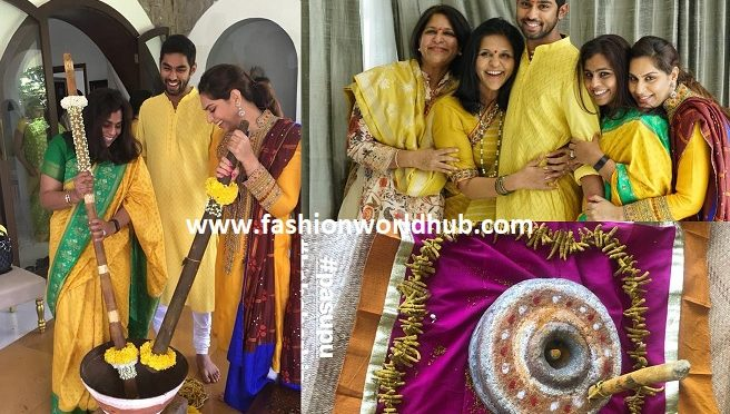 Anindith Reddy Haldi function ceremony photos!