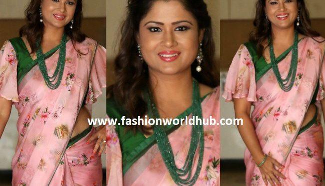 Shilpa chakravarthy in a Floral printed saree