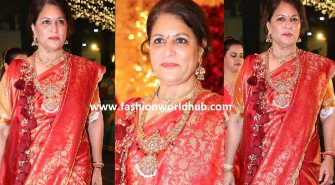 Shobana Kamineni at Shriya bhupal and Anindith Reddy wedding!