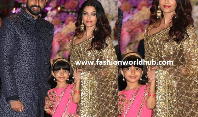 Abhishek, Aishwarya and Aardahya Bachan at Akash Ambani Engagement