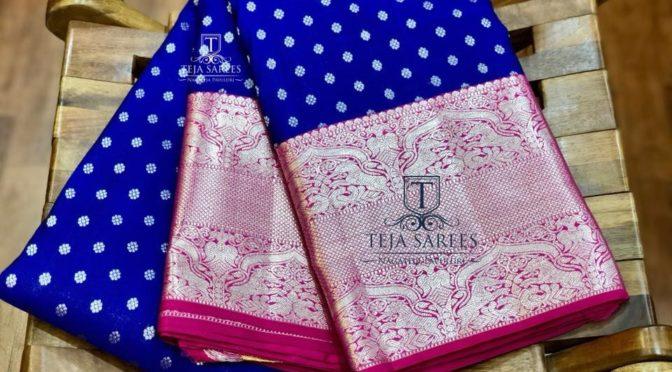 Classic Kanjeevaram sarees by Teja Sarees