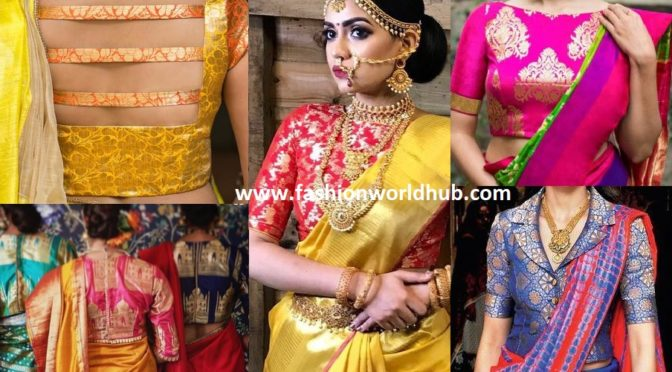 Brocade blouses adding ethnicity and Freshness to you Bygone sarees!