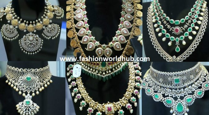 Diamond necklace collections from Sneha reddy Jewellers!