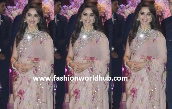 Madhuri Dixit in a Floral saree