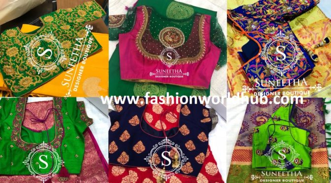 Classic Maggam work blouses by Suneetha designer boutique