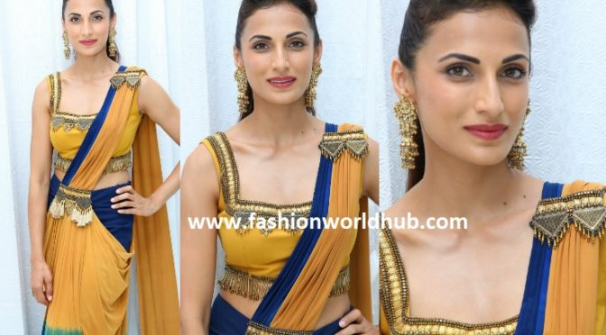 Shilpa Reddy in a saree gown