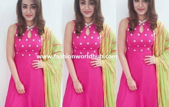 Trisha krishnan in Pink Anarkali
