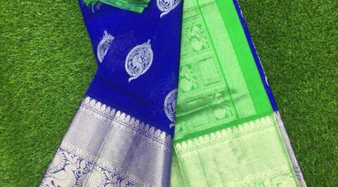 Kuppadam Pattu Sarees with Kanjeevaram Borders by suneetha designer boutique!