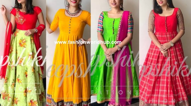 Gorgeous Anarkali designs by Deepshika creations!